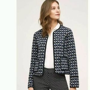 Anthropologie Vala Geometric Knit Blazer Jacket